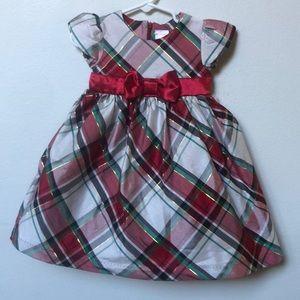 Christmas plaid bow dress